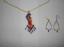 AMERICAN  BEADED   NECKLACE  AND  EARRINGS