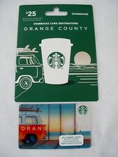 RARE STARBUCKS ORANGE COUNTY GIFT CARD ON HANGER NEW ZERO BALANCE COLLECTIBLE