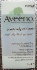 Aveeno Positively Radiant Eye Brightening Cream 15ml Brand New Boxed & Sealed
