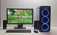 "FORTNITE READY GAMING PC SET 22"" SCREEN QUAD i5 8GB DDR3 500 GB GTX 1650 Win 10"