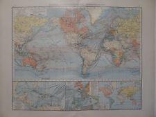 Landkarte Kolonial- u. Verkehrskarte, Lithographie, Andrees 1897