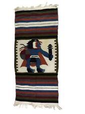 "Woven Peru Decorative Figure Blanket Throw Wall Decor 25.5"" x 57"" Ceremony"