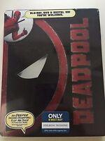 Deadpool Blu-Ray DVD Best Buy Exclusive Steelbook NEW SEALED