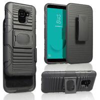 For Samsung Galaxy A6/J4/J6/J8 Plus 2018 Shockproof Armor Belt Clip Holster Case