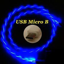 LifeShift Ladekabel für USB Micro B LED Soft-Light blau fliessend leuchtend 1m