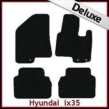 Hyundai ix35/Tucson Mk2 2010-2015 a medida Alfombrillas De Coche De Lujo Alfombra de 1300g Negro