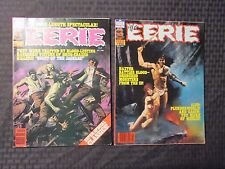 1980 EERIE Warren Horror Magazine LOT of 2 #115 FVF 116 VF-