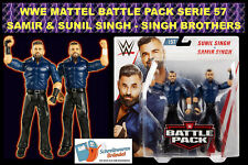 WWE MATTEL BATTLE PACK SERIE 57 SUNIL & SAMIR SINGH BROTHERS BASIC ELITE FIGURE