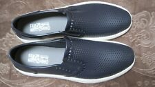 Men's FERRAGAMO 'Fury' Perforated Deep Blue Synthetic Sneakers Size US 13 - D