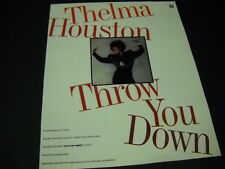 THELMA HOUSTON will THROW YOU DOWN snappy 1990 PROMO POSTER AD mint condition