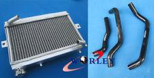 For Honda TRX250 TRX250R 1986 1987 86 87 Aluminum Radiator & Silicone Hose black