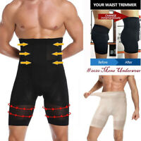 US Men Compression High Waist Boxer Shorts Tummy Slim Body Shaper Girdle Panties