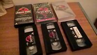 3X JURRASIC PARK 1, 2 & 3 VHS VIDEOS - The lost world Dinosaurs Trilogy set job