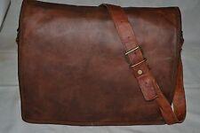 New Men's Real Leather Vintage Laptop Messenger Handmade Briefcase Bag Satchel