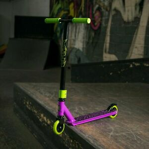 Xootz Kids Stunt Trick Scooter Toxic Girls Boys Ride On Toy Black, Green, Purple