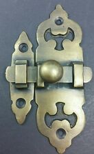 Ornate Antique Style Solid Brass Door Latch Lock Bolt Barn Gate Cabinet #X11