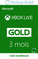 3 Mois Xbox Live Gold Abonnement Code Digital Plate-forme Microsoft One 360 - FR