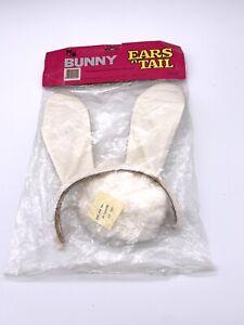 Vintage ~ Topstone ~ Bunny Ears Headband rabbit Tail Costume Cosplay Halloween