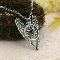 Engel Pentagramm Amulett Winchester Inspire super & Halskette -Anhänger D5O2