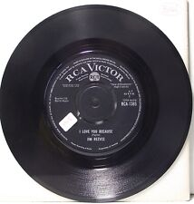 "JIM REEVES I Love You Because 7"" Single 45rpm Vinyl VG"