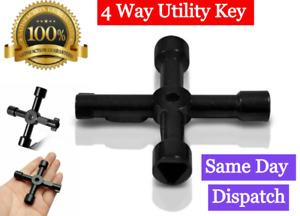 PREMIUM Service Utility Meter Key Gas Electric Box Cupboard Triangle DIY 4 WAy