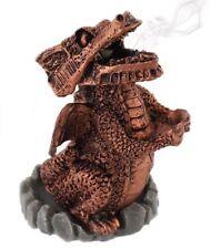 Cono De Incienso Dragón Rojo Cobre fumar Quemador Titular mítica fantasía mágica