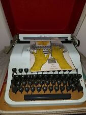 Vintage 1950's Portable Underwood Golden Touch typewriter With Booklet and Case
