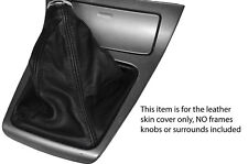 BLACK STITCHING LEATHER SKIN GEAR BOOT FITS SUBARU FORESTER 03-09