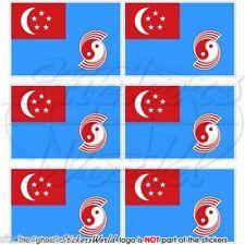 SINGAPORE AirForce RSAF 1973-90 Bandiera Adesivi per Cellulare Mini Stickers x6