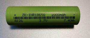 Li-Ion Akku 18650 3,7V 2000mAh