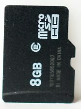 Unbranded 8GB class 2 micro SD/SDHC card.
