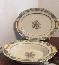 CH Field Haviland Limoges Finest French Ivory China Oval Serving Bowl & Platter