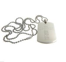 Philippians 4:13 Jesus Christ Bible Engraved Dog Tag Pendant Necklace Christian