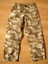 Lands End Khaki Brown Camo Iron Knee Elastic Waist Pants 5/6 NEW NWOT