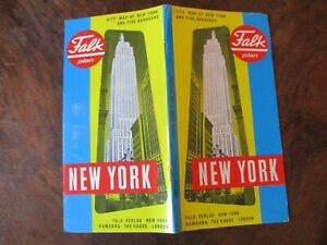 FALK Plan New York 1973 englisch Faltung top erhalten 6. Ausgabe