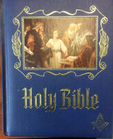 1971 Holy Bible KJV Heirloom Masonic Master Reference Edition Red Letter Gold