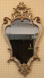 Fabulous Italian Rococo Silvered With Gold Highlights Early 20th Century Mirror