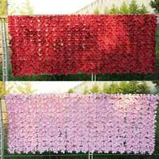 1x Artificial Fence Artificial Cherry Blossom Leaves 0.5*1M Decorative Fence UK