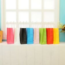 10 Colors party Paper Carrier Bag Wedding Treat with handle Fashion loot bags