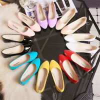 New Women Lady Boat Shoes Casual Flat Ballet Slip On Flats Single Loafers Summer