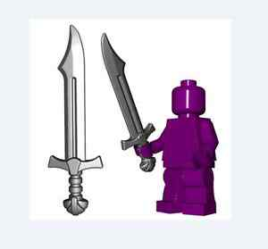 Falchion sword for Lego minifigures accessories