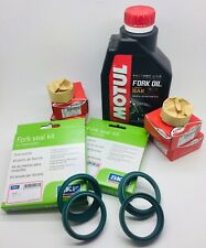 KTM SXF 250 SKF Fork Seals, Bushes & Oil 48mm WP Refurb Kit 2007-2019 Motul 5W