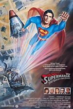 SUPERMAN IV (1987) ORIGINAL MOVIE POSTER    -   ROLLED    -   DAN GOUZEE ARTWORK