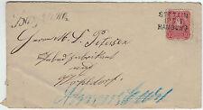 Brief von Bargteheide mit MiNr. 33 und Bahnpoststempel STETTIN-HAMBURG