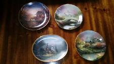 Bradford Exchange Four(4) Scenic Collectors Plates, Thomas Kinkade & Judy Gibson