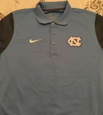 North Carolina Tar Heels Gray Blue Nike Dri-Fit M Medium Golf Polo Shirt New NWT
