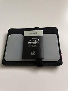 New Herschel Supply Street Style Card Holder Wallet RFID Black & Clear Rubber