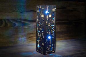 Cyberpunk Night Lamp - Handmade Sci-fi Punk Microscheme Style Table LED Lamp