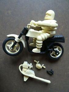 moto avec personnage michelin pour pièces couleur jaune clair