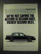 1991 Plymouth Acclaim Ad - Not Saying Accord is Second